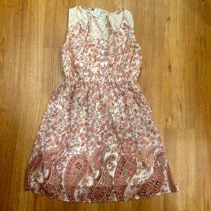 Sleeveless Floral Dress Paisley Print American Rag